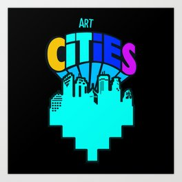 #heArtoftheCities Art Print