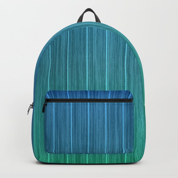 Tropical Island Aqua Blue Beach Hut Backpack