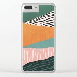 Modern irregular Stripes 02 Clear iPhone Case