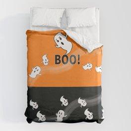 Ghost Black and Orange Bettbezug