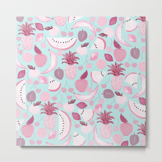 Fruit Punch Blush I Metal Print