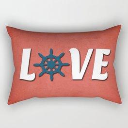 Love nautical design Rectangular Pillow