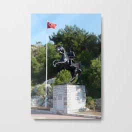 Mustafa Kemal Ataturk Statue Turunc Metal Print