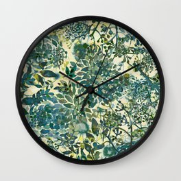 spring time emerald green Wall Clock