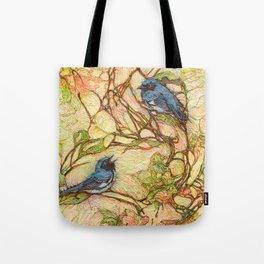 Lullaby (Black Throated Warblers) Tote Bag