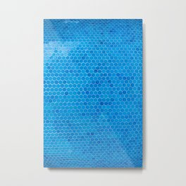 Turquoise Sequins Metal Print