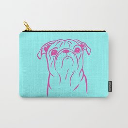 Pug (Cyan and Magenta) Carry-All Pouch