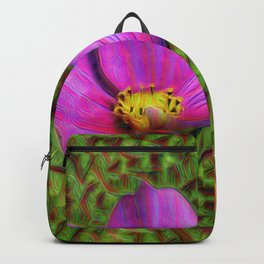 DeepDream Flowers, Wild Flower, DeepDream style Backpack
