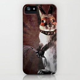 50 shades of Marquis Rabbit, Erotic Gift with Message iPhone Case