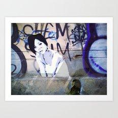 Tatoo on the wall Art Print