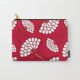 African Floral Motif on Red Carry-All Pouch