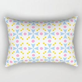 star and polka dot 5 - blue,pink and orange Rectangular Pillow