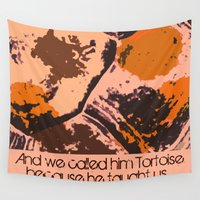 tortoise Wall Tapestries featuring Call Me Tortoise by Canis Picta