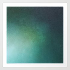 Emerald Sea Light Art Print