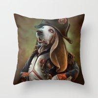 napoleon Throw Pillows featuring Napoleon Boneaparte by Christina Hess
