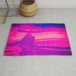 Eye of Tiger Pink - Blue Abstract Vector Texture Rug