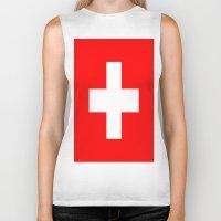 switzerland Biker Tanks featuring Flag of Switzerland by Neville Hawkins