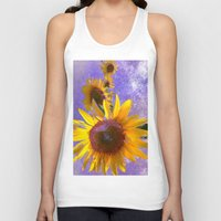 sunflower Tank Tops featuring Sunflower4 by Regan's World