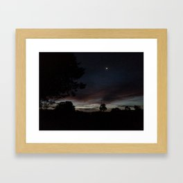 Under a Huskisson sky Framed Art Print
