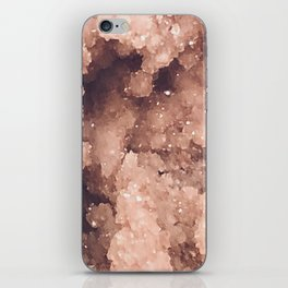 Rose Colored Geode iPhone Skin