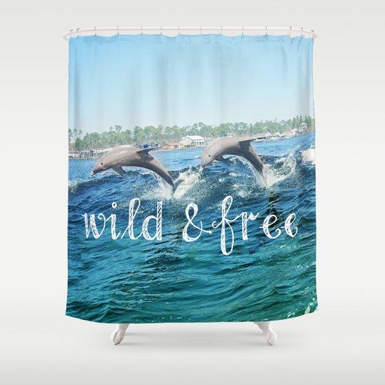 Wild & Free Shower Curtain