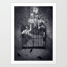 Hansel and Gretel and the Witch's House Art Print