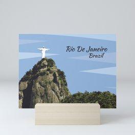 Christ the redeemer Rio De Janeiro Brazil Mini Art Print