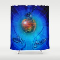 freedom Shower Curtains featuring Freedom by Walter Zettl