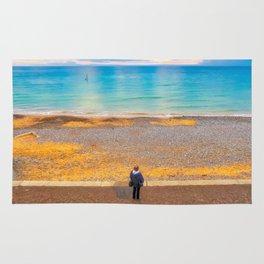 Watching The Sea at Cromer Beach, U.K Rug