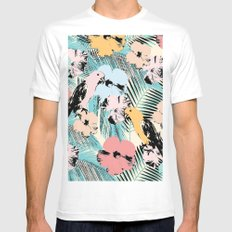tropical pattern White SMALL Mens Fitted Tee