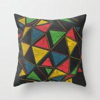 deadmau5 Throw Pillows featuring Techno by Sitchko Igor