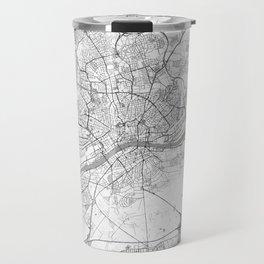 Frankfurt Map Line Travel Mug