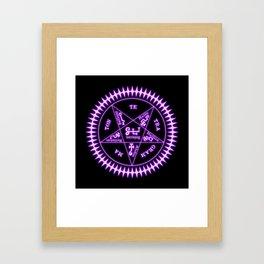 Sebastian Michaelis Sigil Light (black bg) Framed Art Print