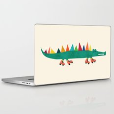 Crocodile on Roller Skates Laptop & iPad Skin