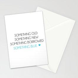 Something Old Something New Something Borrowed Something Blue Stationery Cards