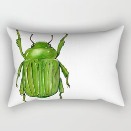 Chysina gloriosa -Glorious Scarab  Beetle Rectangular Pillow