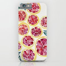 Sliced Grapefruits Watercolor Slim Case iPhone 6