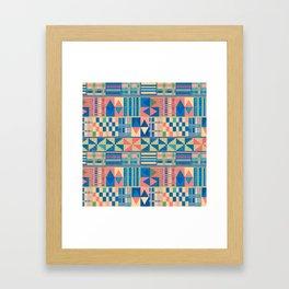 Kente Inspired 2 Framed Art Print