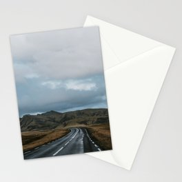 Open road in Iceland Stationery Cards