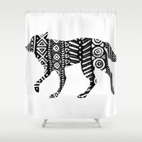 into the wild Shower Curtains featuring Wild by Samantha Crepeau