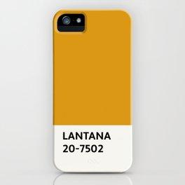 Lantana Chip iPhone Case
