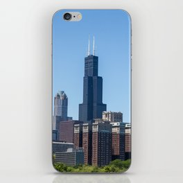 Willis Tower standing tall in downtown Chicago iPhone Skin