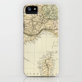 Vintage Retro Map Northern Italy iPhone Case