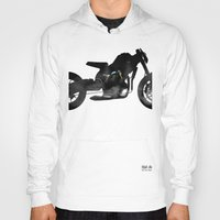 cafe racer Hoodies featuring cafe racer bike  by Daniele Faro