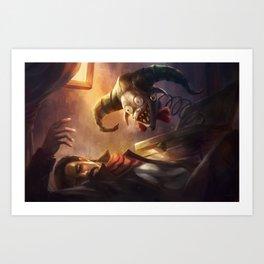 Diable En Boite Art Print