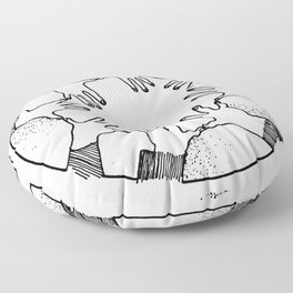 A Psychic Chain Closed Floor Pillow