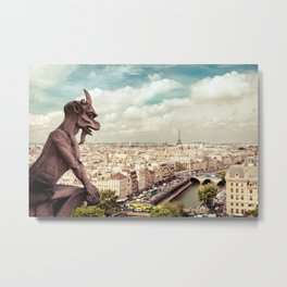 Paris - From Above Metal Print
