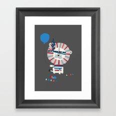 Little Grey Lion Framed Art Print