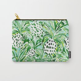TROPICAL SITCH Green Pineapple Watercolor Carry-All Pouch