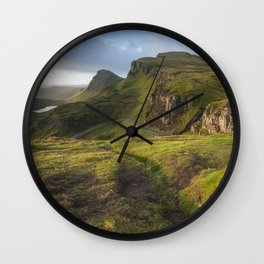 Mesmerized By the Quiraing II Wall Clock
